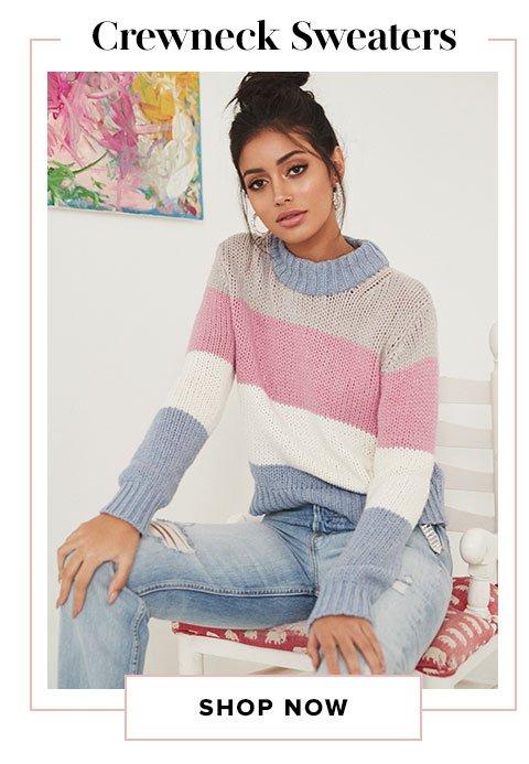 Crewneck Sweaters. Shop Now