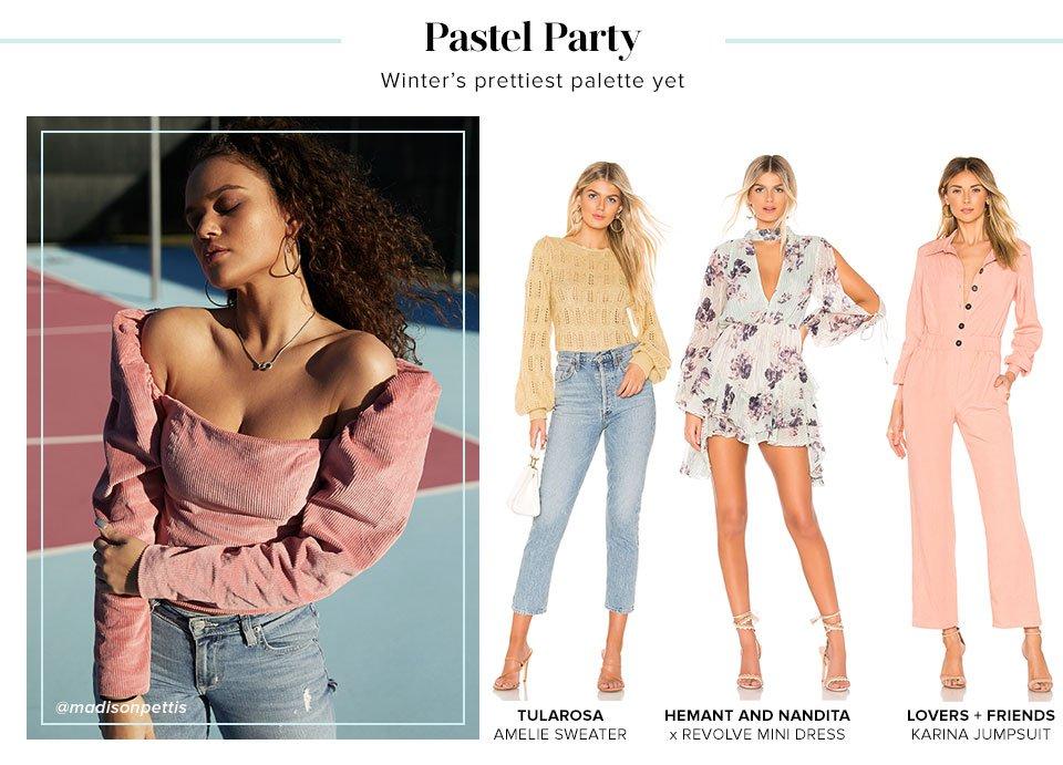 Pastel Party. Shop Winter Pastels