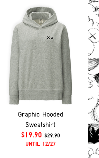 GRAPHIC HOODED SWEATSHIRT $19.90