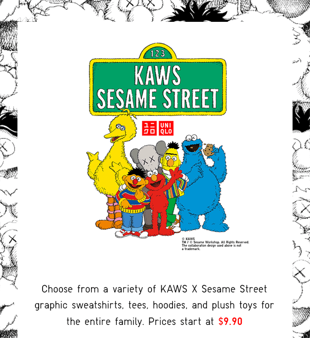 KAWS X SESAME STREET - PRICES START AT $9.90