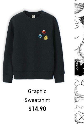 GRAPHIC SWEATSHIRT $19.90