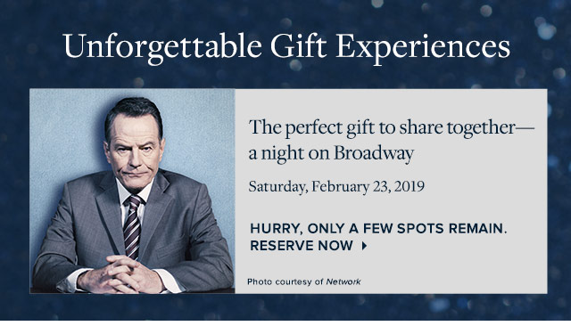 UNFORGETTABLE GIFT EXPERIENCES