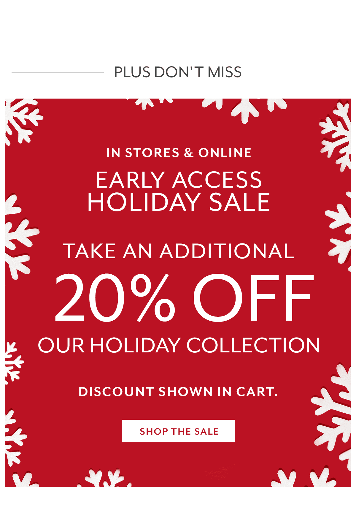 Early Access Holiday Sale