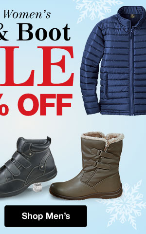 Shop Men's Coat & Boot Sale!