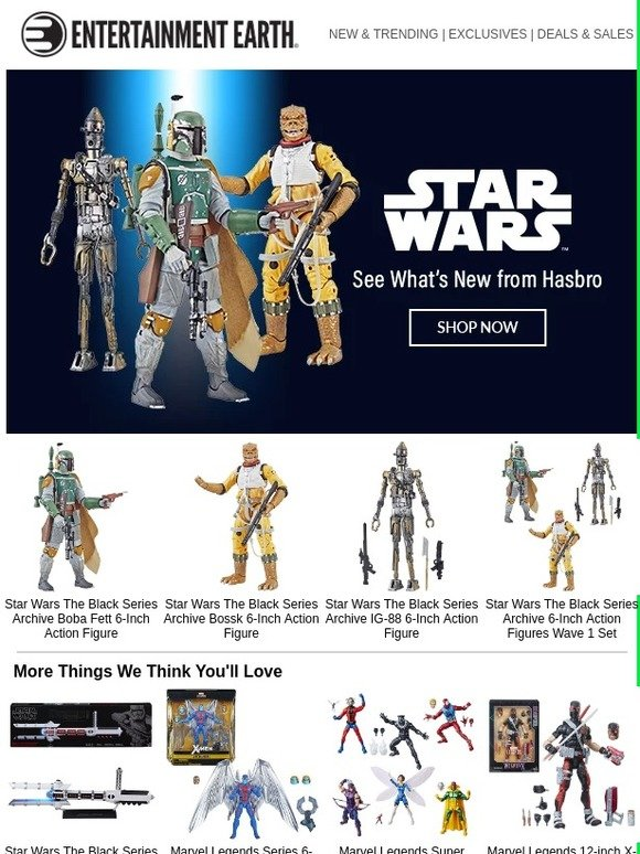 """Wave 1 Star Wars The Black Series Archive 6/"""" IG-88 Action Figure"""