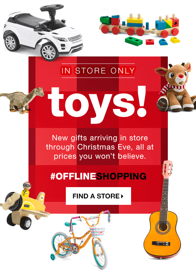 In Store Only Toys New Gifts Arriving Through Christmas Eve All