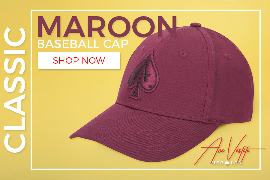 273f60df1 Ace Vestiti: New Arrival: Classic Maroon Baseball Cap | Milled