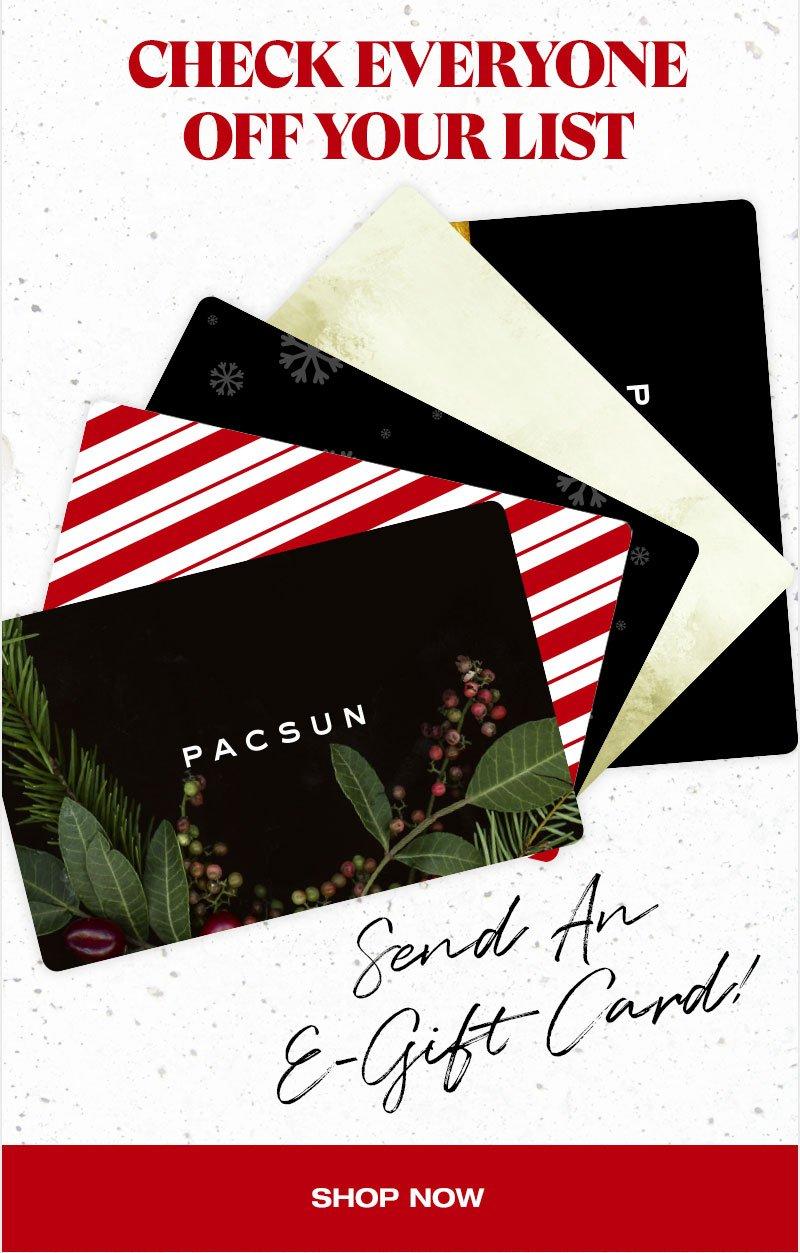 Send An E-Gift Card - Shop Now