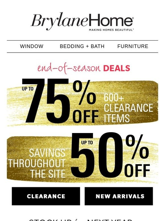 Brylane Home Clearance Up To 75 Off 600 Items Milled