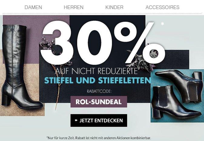 ROLAND SCHUHE: Nur heute: 30% Rabatt auf Stiefel und