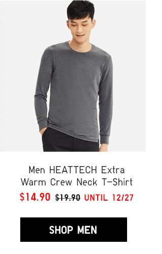 MEN HEATTECH EXTRA WARM CREW NECK T-SHIRT $14.90 - SHOP MEN
