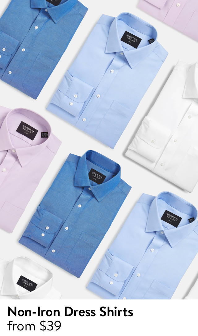 Non-iron dress shirts from $39.