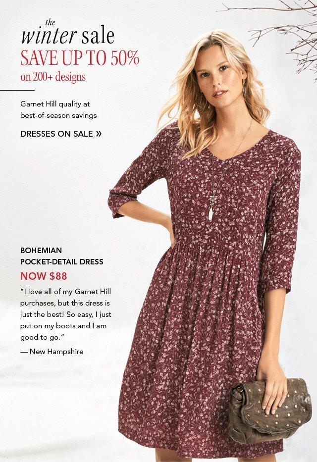 3fc78d0b316a6 Garnet Hill: Dresses on Sale: the Winter Sale's in full swing | Milled