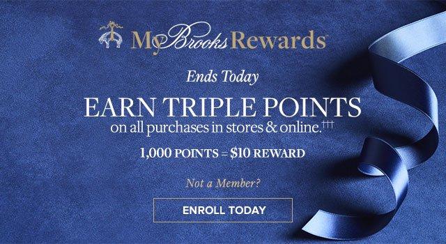 EARN TRIPLE POINTS | ENROLL TODAY