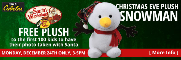 Christmas Eve Only Free Plush with Santa Photo