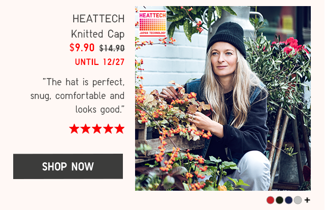 HEATTECH KNITTED CAP $9.90 - SHOP NOW