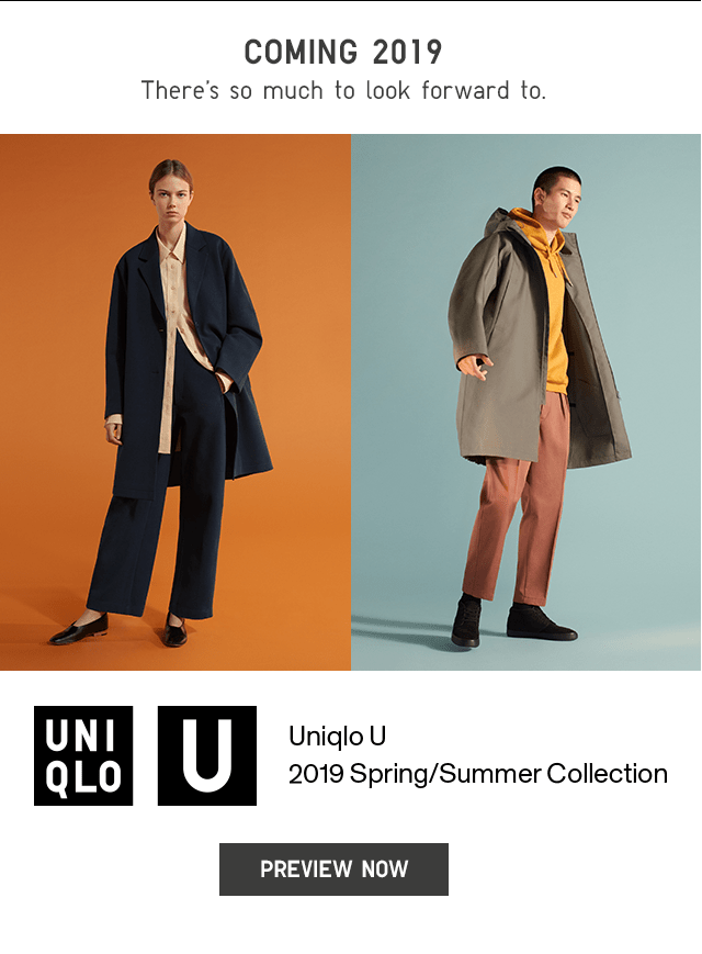 COMING SOON - UNIQLO U 2019 SPRING/SUMMER COLLECTION - PREVIEW NOW