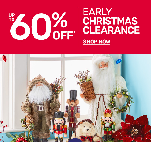 Shop up to sixty percent off early Christmas clearance.