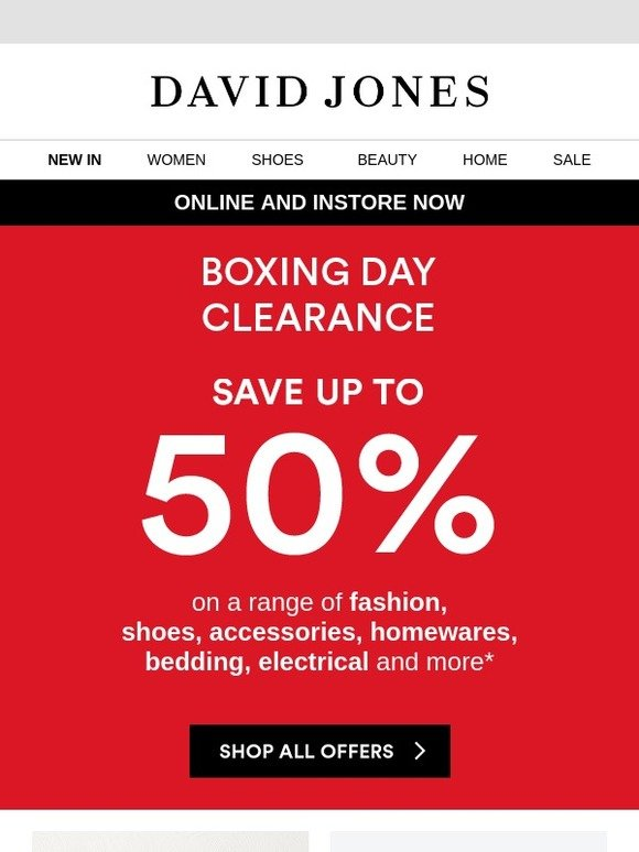 David Jones Email Newsletters Shop Sales Discounts And