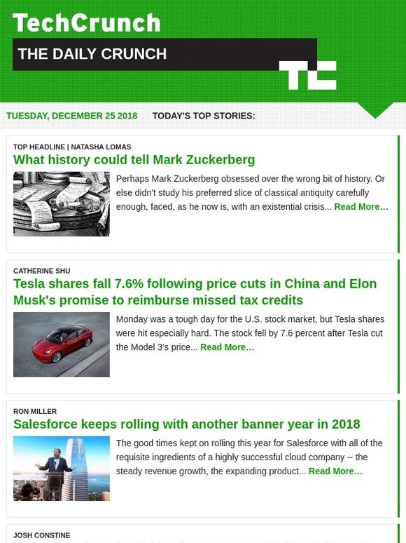 Techcrunch Top Stories Of The Day December 25 2018 Milled