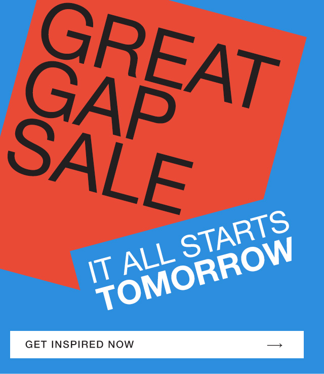 GREAT GAP SALE
