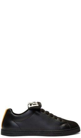 Fendi - Black & Yellow 'Forever Fendi' Sneakers