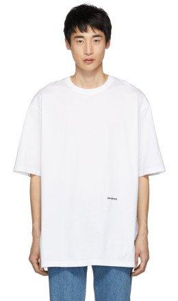 Calvin Klein 205W39NYC - White Embroidered Logo T-Shirt