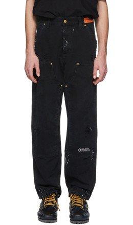 Heron Preston - Black Carhartt Edition Crystal Trousers