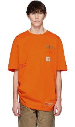 Heron Preston - Orange Carhartt Edition T-Shirt