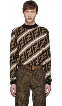 Fendi - Brown Wool 'Forever Fendi' Sweater
