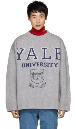 Calvin Klein 205W39NYC - Grey Yale Crewneck Sweater
