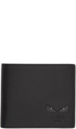 Fendi - Black 'Bag Bugs' Bifold Wallet