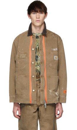 Heron Preston - Tan Carhartt Edition 'Style' Jacket