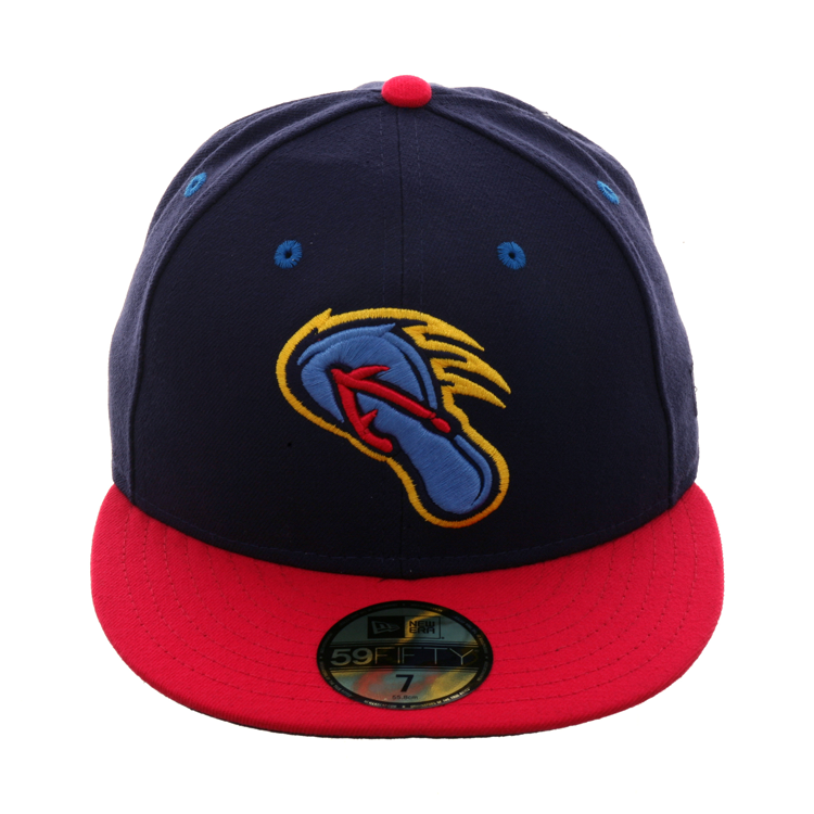 14821c691c8 Exclusive New Era 59Fifty San Antonio Missions Flying Chanclas Hat - 2Tone  Light Navy