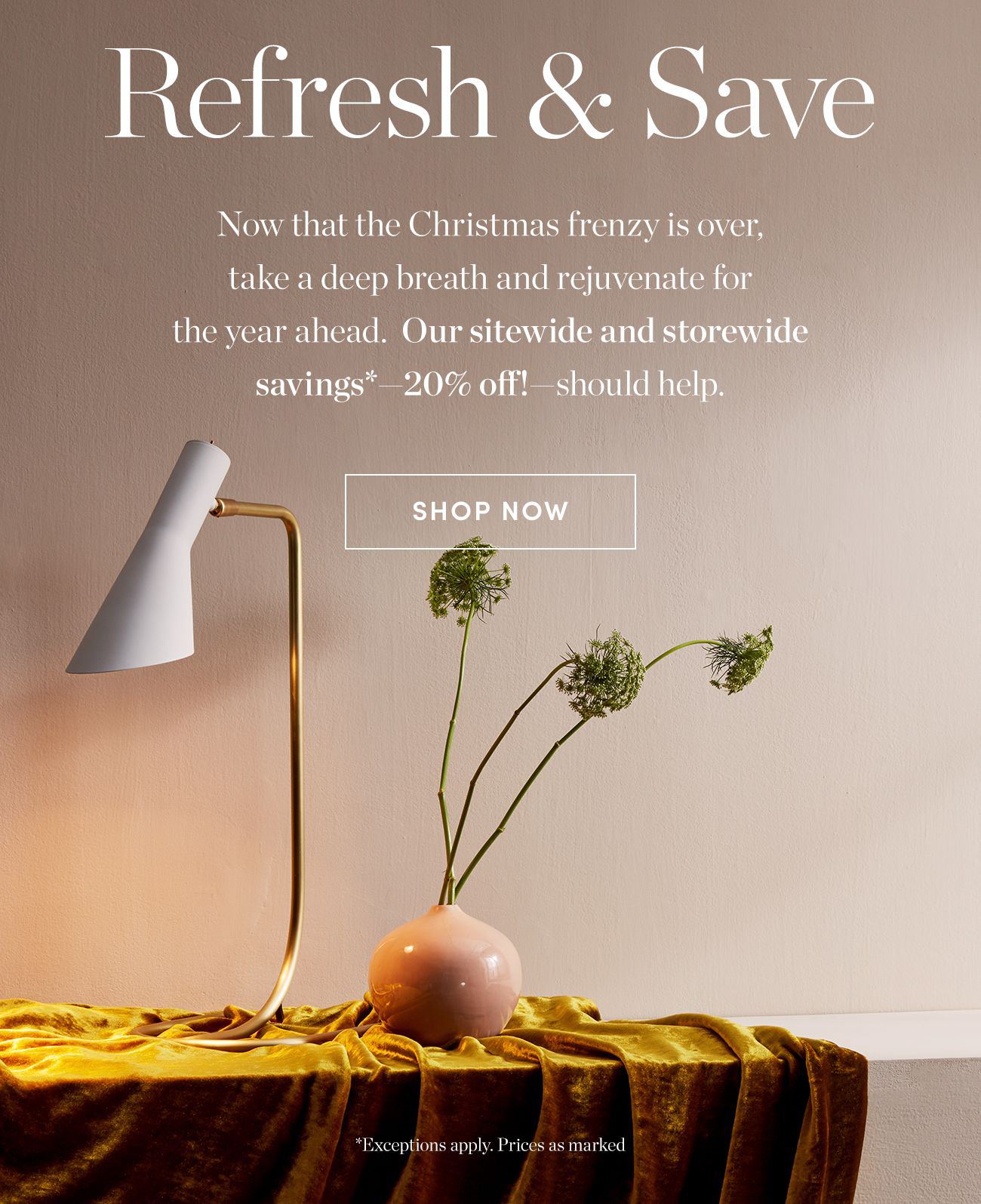 SAVE 20% sidewide | Shop Now >