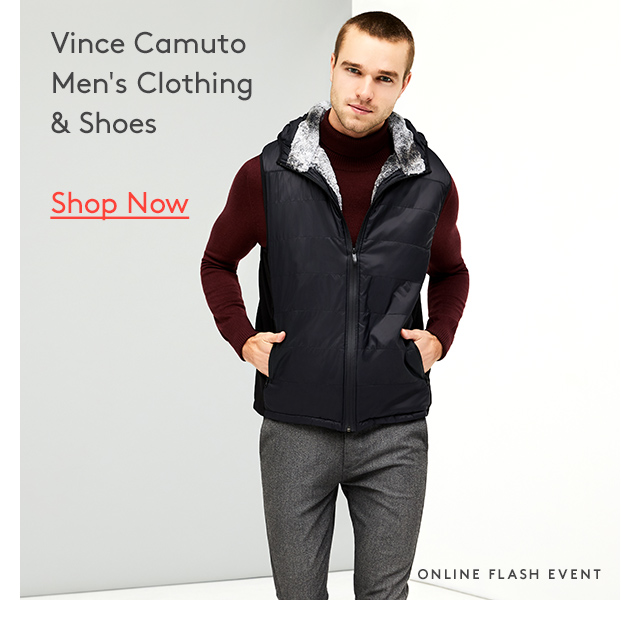 Vince Camuto | Men's Clothing | Shop Now | Online Flash Event