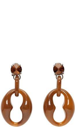 Prada - Brown Chunky Earrings