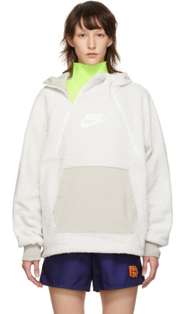 Nike - White NSW Sherpa Hoodie