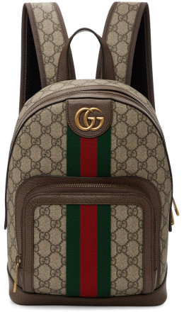 Gucci - Brown Small GG Ophidia Backpack