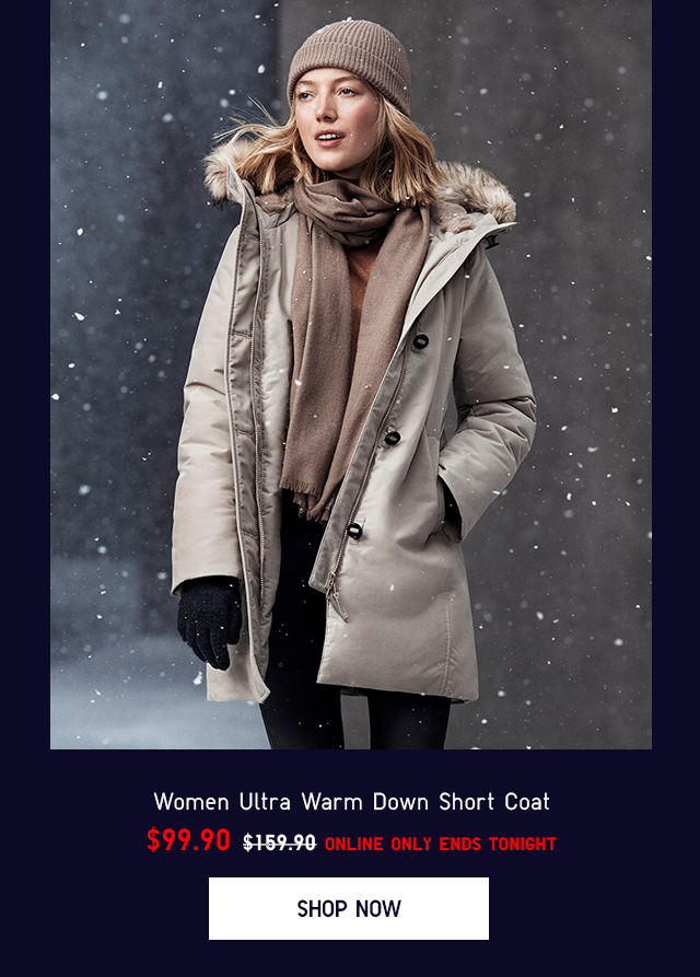 WOMEN ULTRA WARM DOWN LONG COAT $99.90
