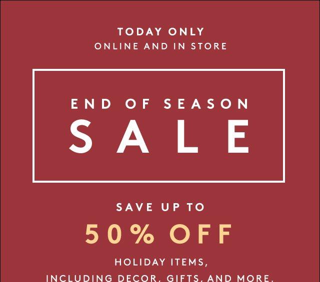 Big savings on festive pieces.