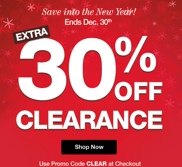 Extra 30% OFF Clearance! Use promo code CLEAR at checkout.