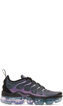 Nike - Black & Purple Air Vapormax Plus Sneakers