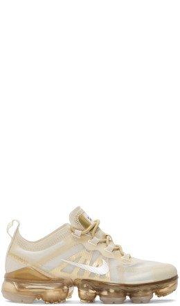 Nike - Off-White & Beige Air Vapormax 2019 Sneakers