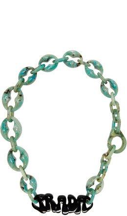 Prada - Green Logo Chunky Necklace