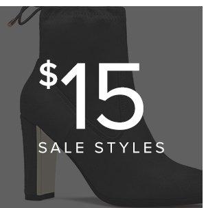SHOP $15 SALE STYLES