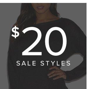 SHOP $20 SALE STYLES