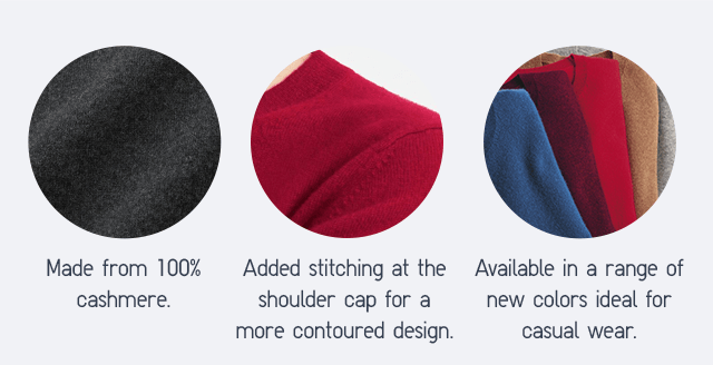 MADE FROM 100% CASHMERE.