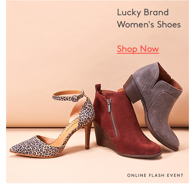 Lucky Brand | Women's Shoes | Shop Now | Online Flash Event