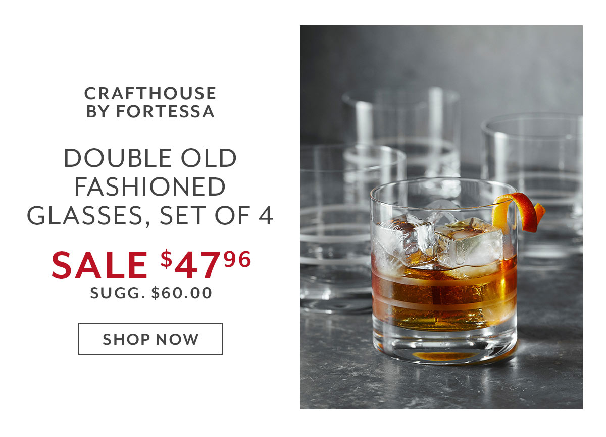Crafthouse by Fortessa Double Old Fashioned Glasses